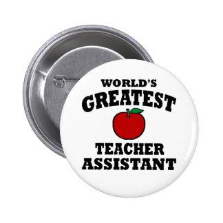 El ayudante más grande del profesor pin redondo de 2 pulgadas