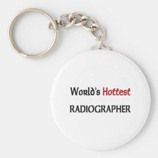 El ayudante radiólogo más caliente de los mundos llavero redondo tipo pin
