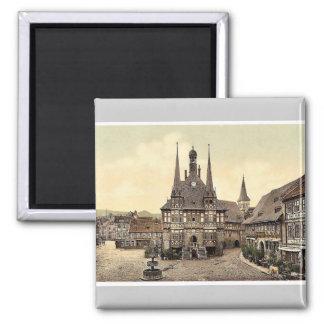 El ayuntamiento, Wernigerode, Hartz, Alemania pH r Imán Cuadrado
