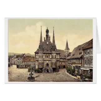 El ayuntamiento Wernigerode Hartz Alemania pH r Felicitación