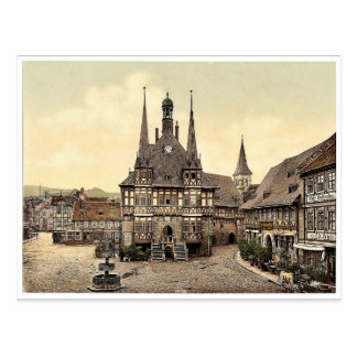 El ayuntamiento Wernigerode Hartz Alemania pH r Tarjeta Postal