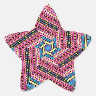 El Azteca del caleidoscopio inspiró el modelo Pegatina En Forma De Estrella