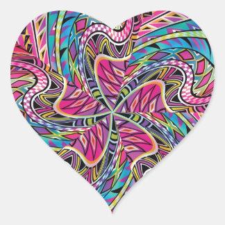 El Azteca del caleidoscopio inspiró el modelo Pegatina En Forma De Corazón