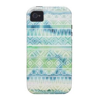 El Azteca en colores pastel de la acuarela inspiró Vibe iPhone 4 Fundas
