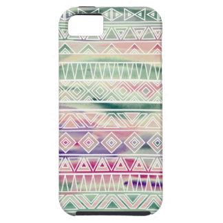 El Azteca en colores pastel de la acuarela inspiró iPhone 5 Case-Mate Protector