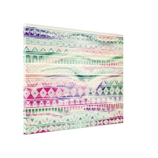 El Azteca en colores pastel de la acuarela inspiró Impresiones De Lienzo