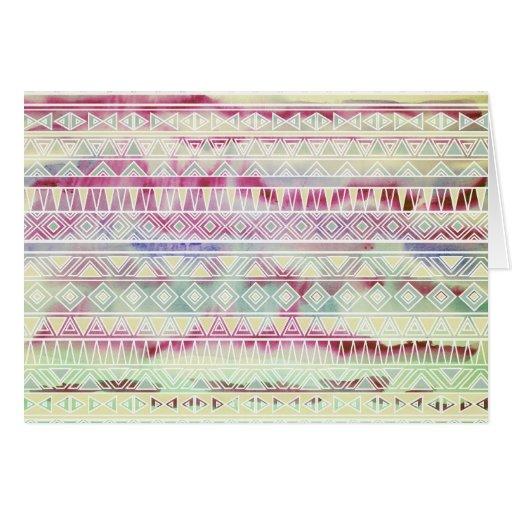 El Azteca en colores pastel de la acuarela inspiró Tarjeta