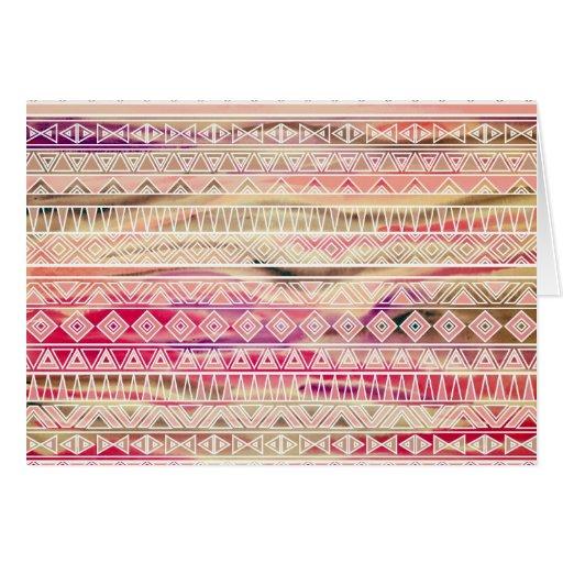 El Azteca en colores pastel de la acuarela inspiró Tarjeton