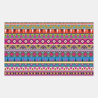 El Azteca inspiró el modelo Pegatina Rectangular
