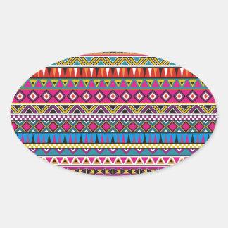 El Azteca inspiró el modelo Pegatina Ovalada