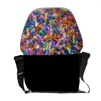 El azúcar asperja bolsa de mensajería