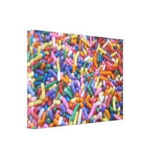 El azúcar asperja lienzo envuelto para galerías