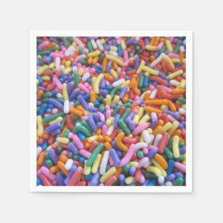 El azúcar asperja servilletas desechables