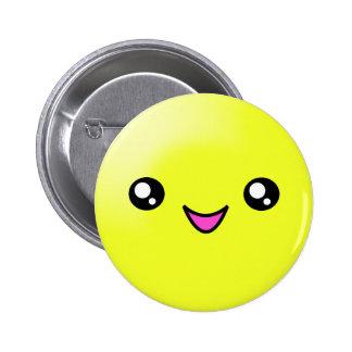 El azúcar de Kawaii puntea el botón feliz de la ca Pin Redondo De 2 Pulgadas