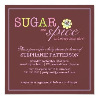 El azúcar y lo condimenta es una invitación de la