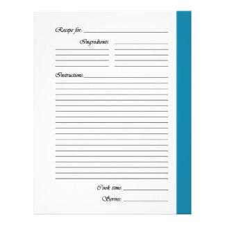 El azul 2 echó a un lado las páginas de la receta flyer a todo color