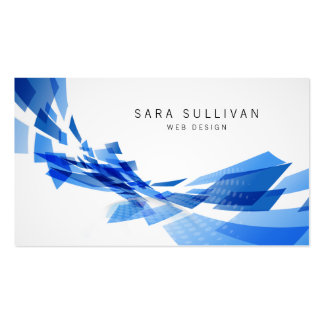 El azul abstracto forma la tarjeta de visita del