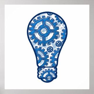 El azul adapta la bombilla impresiones