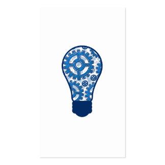 El azul adapta la bombilla tarjetas de visita