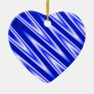 """El """"azul agita"""" el ornamento en forma de corazón ornamentos de navidad"""