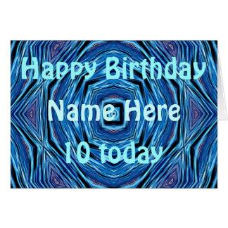 El azul agita la tarjeta de cumpleaños de
