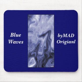 El azul agita Mousepad