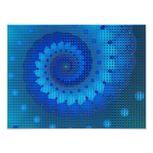 El azul ajusta arte abstracto póster