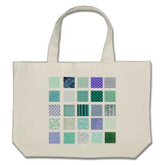 El azul ajusta el modelo de mosaico bolsas lienzo