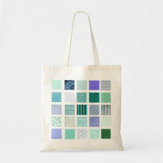 El azul ajusta el modelo de mosaico bolsa tela barata