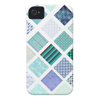 El azul ajusta el modelo de mosaico iPhone 4 Case-Mate protector