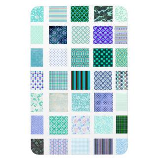 El azul ajusta el modelo de mosaico imán rectangular