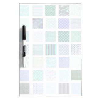 El azul ajusta el modelo de mosaico pizarra blanca