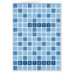 El azul ajusta la tarjeta de cumpleaños de Gemoetr