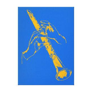 El azul anaranjado del vintage da el Clarinet Benn Lona Envuelta Para Galerias
