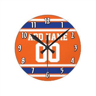 El azul anaranjado se divierte el jersey con nombr relojes