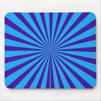 El azul añil Starburst púrpura Sun irradia la opin Tapete De Raton
