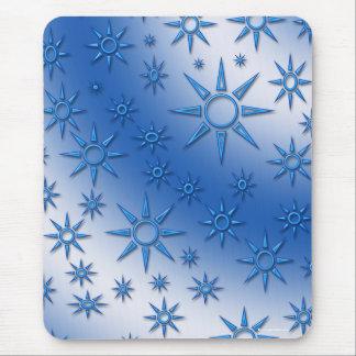 El azul asolea el modelo inconsútil tapetes de ratones
