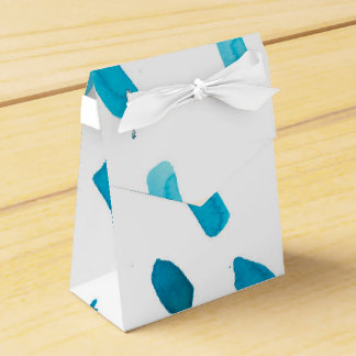 el azul azul de la acuarela colorida frota caja para regalos