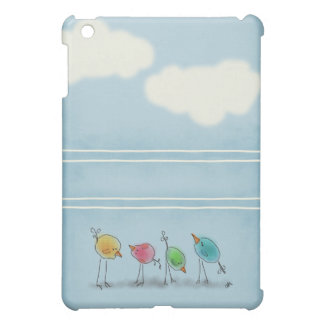 El azul Birdies mini caso del iPad iPad Mini Carcasa