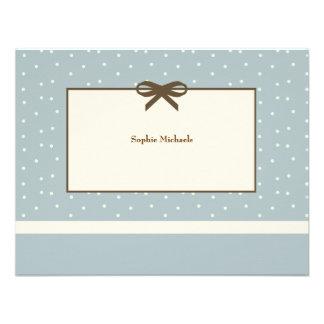 El azul blando personalizado agradece le Notecard Anuncio Personalizado