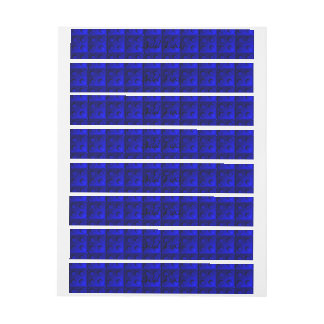 El azul bloquea el modelo pegatinas postales