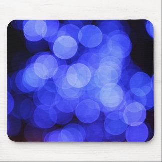 El azul borroso enciende Mousepad