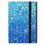 El azul brilla textura de las chispas iPad mini funda