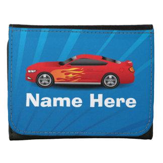 El azul brillante con el coche de deportes rojo fl