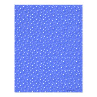 El azul burbujea papel del libro de recuerdos membrete