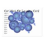 El azul burbujea tarjeta del túnel de lavado o del tarjeta de negocio