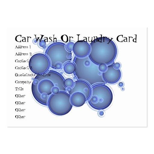 El azul burbujea tarjeta del túnel de lavado o del tarjetas de visita grandes