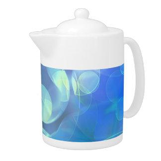 El azul caprichoso mancha arte abstracto