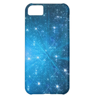 El azul chispea caso del iphone 5 funda para iPhone 5C