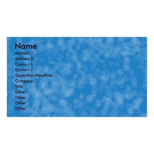 El azul chispea plantilla plantilla de tarjeta personal